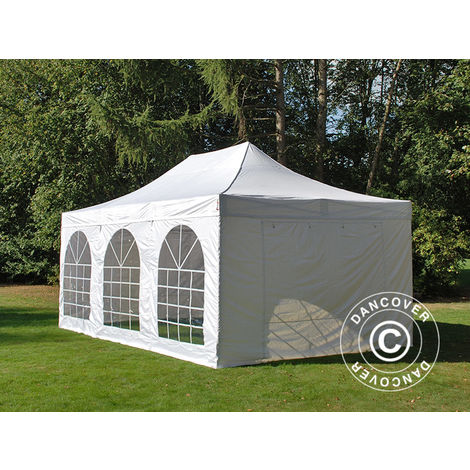 Carpa plegable Carpa Rapida FleXtents Steel 4x6m Blanco, Incl. 4 lados