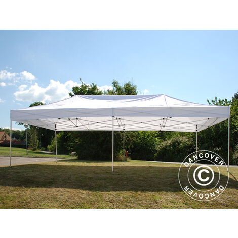 Carpa plegable Carpa Rapida FleXtents Steel 4x8m Blanco