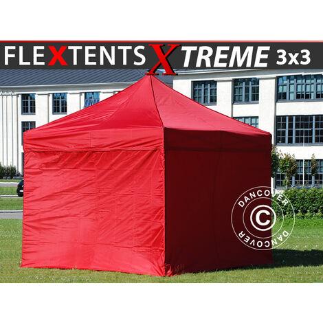 Carpa plegable Carpa Rapida FleXtents Xtreme 50 3x3m Rojo, Incl. 4 lados