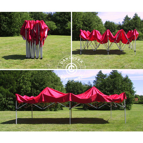 Carpa plegable Carpa Rapida FleXtents Xtreme 50 3x6m Rojo, Incl. 6 lados