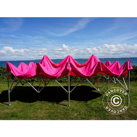 Carpa plegable Carpa Rapida FleXtents Xtreme 50 3x6m Rosa, Incl. 6 lados