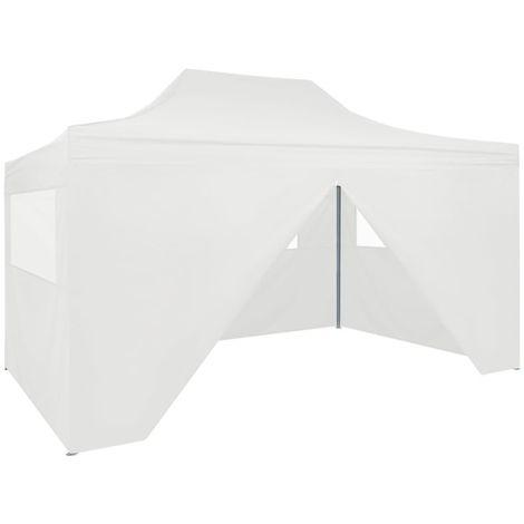 Carpa plegable para celebraciones con 4 paredes blanco 3x4,5 m