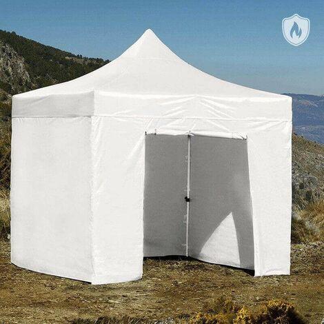 Carpa Plegable para Eventos y Jardín 3x3 Master Ignífuga (Kit Completo) Blanco