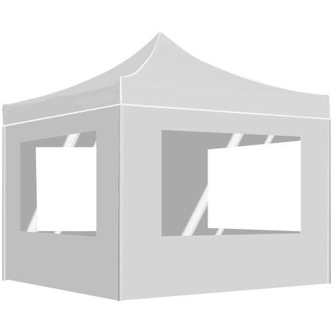 Carpa plegable profesional con paredes aluminio blanco 2x2 m