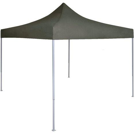 Carpa plegable profesional de acero gris antracita 2x2 m