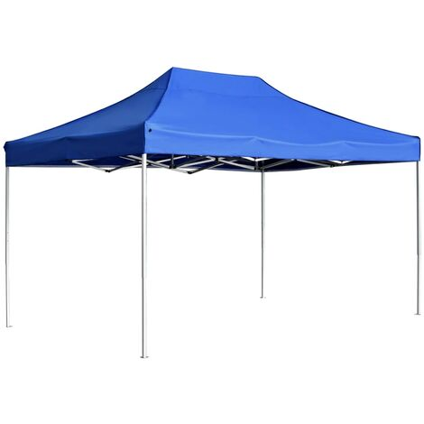 Carpa plegable profesional de aluminio azul 4,5x3 m