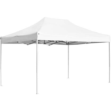 Carpa plegable profesional de aluminio blanca 4,5x3 m