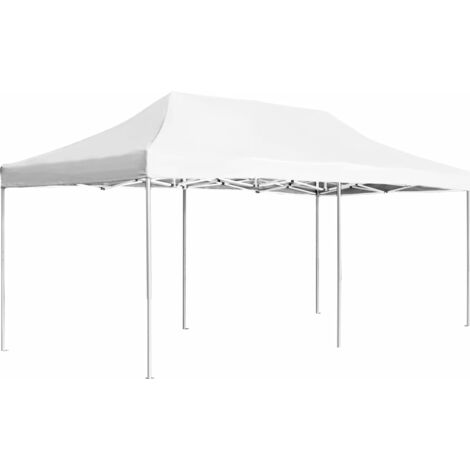 Carpa plegable profesional de aluminio blanco 6x3 m