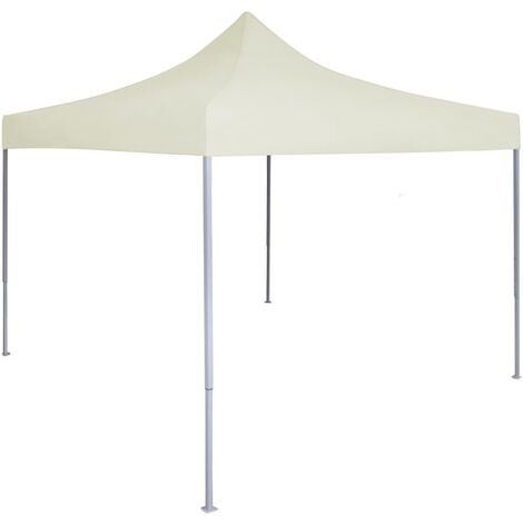 Carpa plegable profesional para fiestas acero color crema 2x2 m