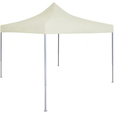 Carpa plegable profesional para fiestas acero color crema 2x2 m - Crema