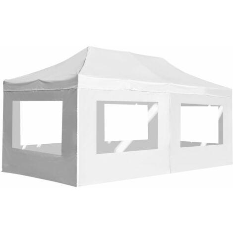Carpa plegable profesional y paredes aluminio blanco 6x3 m
