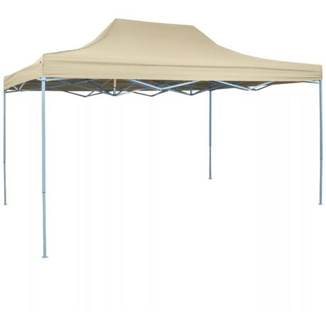 Carpa pleglable Pop-up 3x4,5 m blanco crema