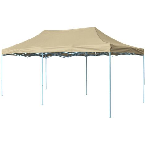 Carpa pleglable Pop-up 3x6 m blanco crema