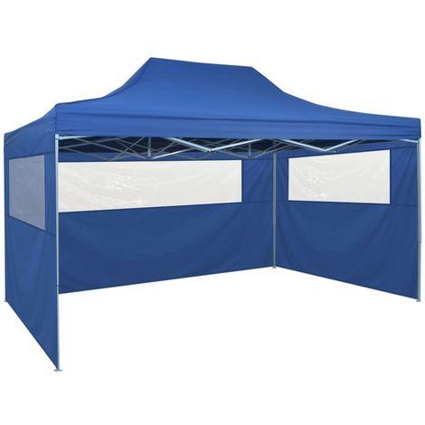 Carpa pleglable Pop-up con 4 paredes 3x4,5 m azul