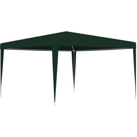 Carpa profesional para celebraciones verde 90 g/m² 4x4 m