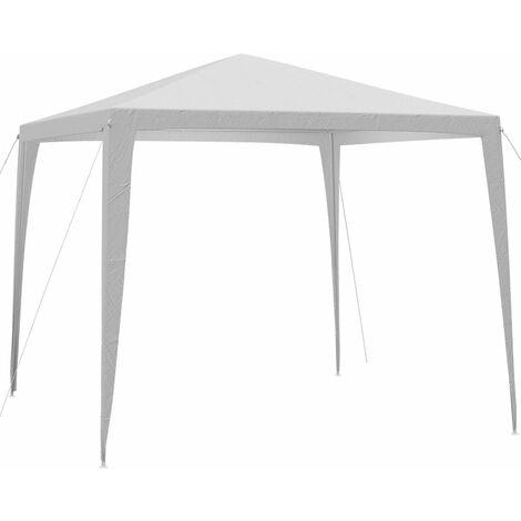 Carpa/toldo de jardín de 3x3m, color blanco