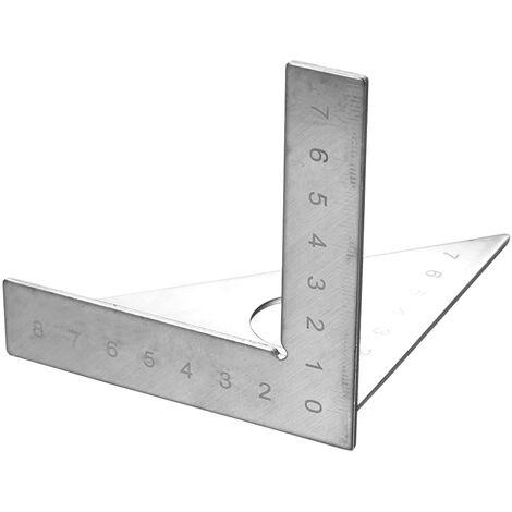 Carpenter's Straightedge Marqueur de menuisier Disposition carree Mitre Triangle Regle 45 ¡ã 90 ¡ã Calibre metrique