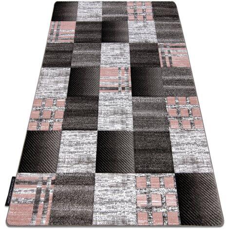 Carpet ALTER Siena squares Trellis grey - 80x150 cm