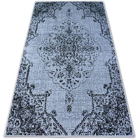 Carpet BCF BASE VINTAGE 3971 ROSETTE grey/black - 120x160 cm