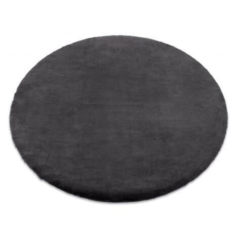 Carpet BUNNY circle grey IMITATION OF RABBIT FUR - circle 140 cm