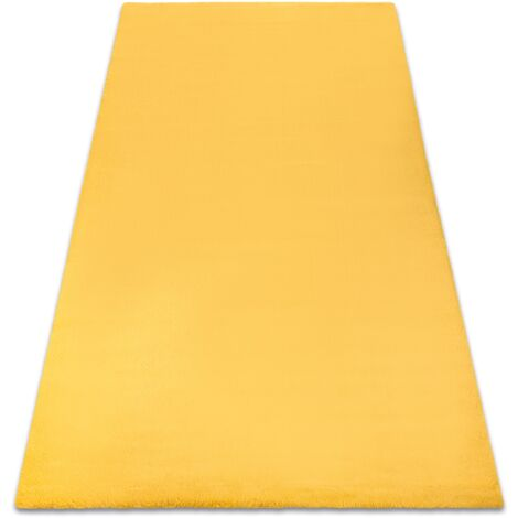 Carpet BUNNY gold IMITATION OF RABBIT FUR Shades of yellow and gold 60x100 cm