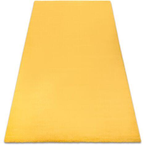 Carpet BUNNY gold IMITATION OF RABBIT FUR Shades of yellow and gold 80x150 cm