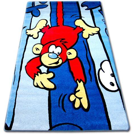 Carpet children HAPPY C176 blue Monkey - 140x190 cm