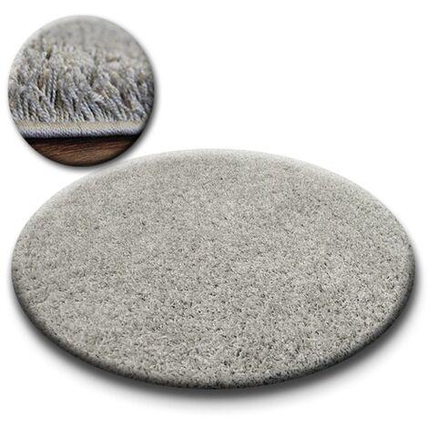 Carpet circle SHAGGY GALAXY 9000 grey - circle 100 cm