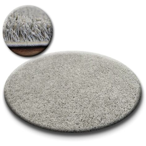 Carpet circle SHAGGY GALAXY 9000 grey - circle 120 cm