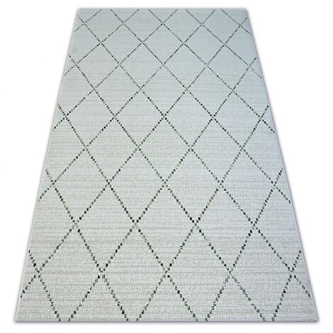 Carpet COLOR 19436/062 SISAL Diamonds Squares Beige - 200x290 cm