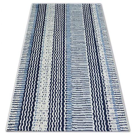 Carpet COLOR 47276/396 SISAL Belts White - 60x110 cm