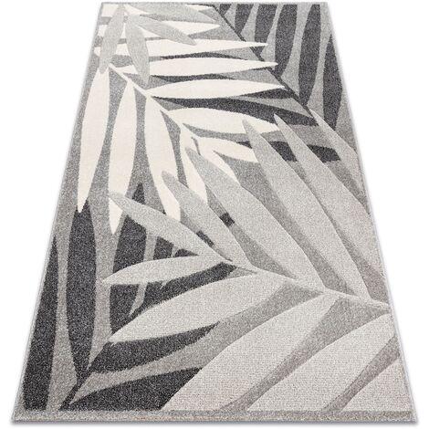 Carpet FEEL 1827/16811 LEAVES grey / cream - 80x150 cm