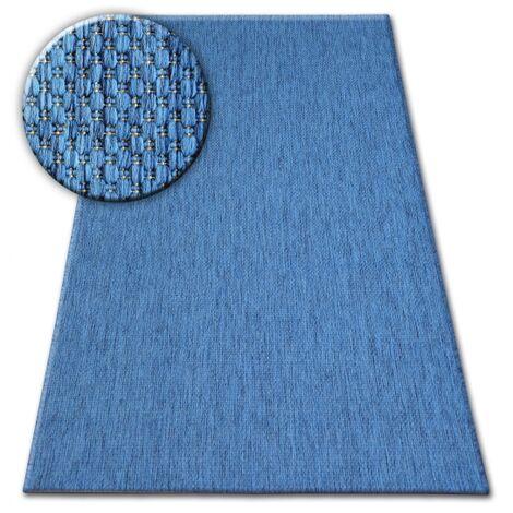 Carpet FLAT 48663/330 SISAL - blue PLAIN - 160x230 cm