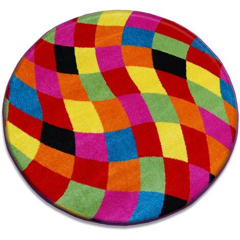Carpet PAINT circle - 1558 blue - circle 80 cm
