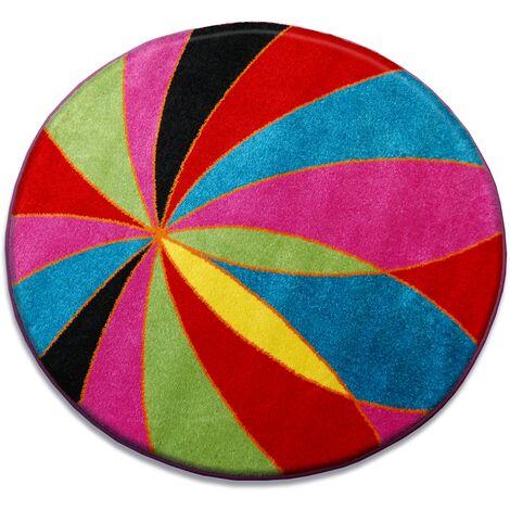 Carpet PAINT circle - 1559 blue - circle 80 cm