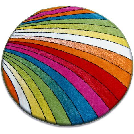 Carpet PAINT circle - 1560 blue - circle 80 cm