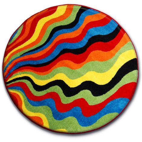 Carpet PAINT circle - 1561 blue - circle 80 cm