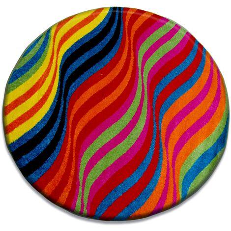 Carpet PAINT circle - 1562 blue - circle 80 cm
