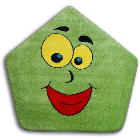 Carpet PAINT pentagon - 1553 green - circle 100 cm