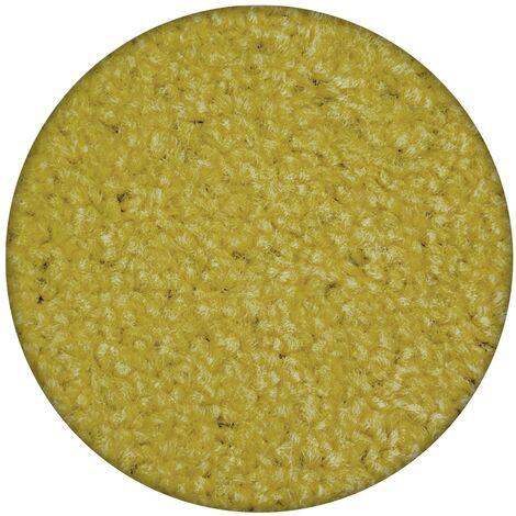 Carpet round ETON yellow - circle 200 cm