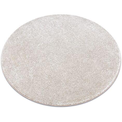 Carpet, round SAN MIGUEL cream 031 plain, flat, one colour - circle 100 cm