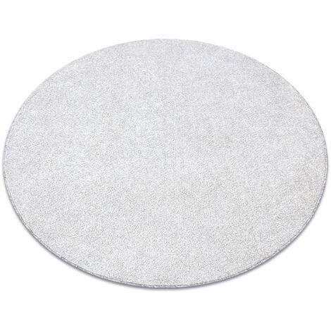 Carpet, round SANTA FE cream 031 plain, flat, one colour - circle 100 cm