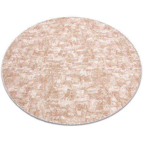Carpet, round SOLID beige 30 CONCRETE - circle 133 cm