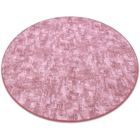 Carpet, round SOLID blush pink 60 CONCRETE - circle 100 cm
