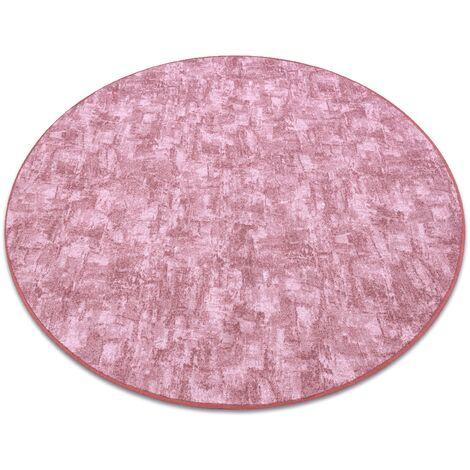 Carpet, round SOLID blush pink 60 CONCRETE - circle 150 cm