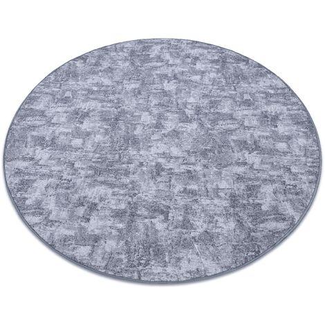 Carpet, round SOLID grey 90 CONCRETE - circle 133 cm