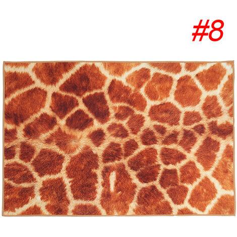 Carpet Rug Animal Fur Pattern Living Room Bedroom Anti-slip Floor Mats Home orange 60X90cm