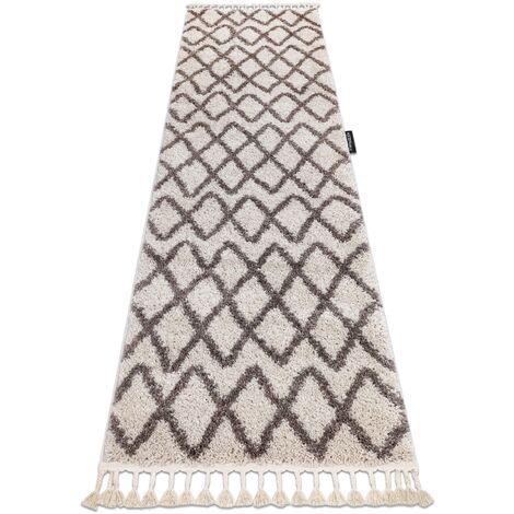 Carpet, Runner BERBER BENI cream - for the kitchen, corridor & hallway - 80x250 cm