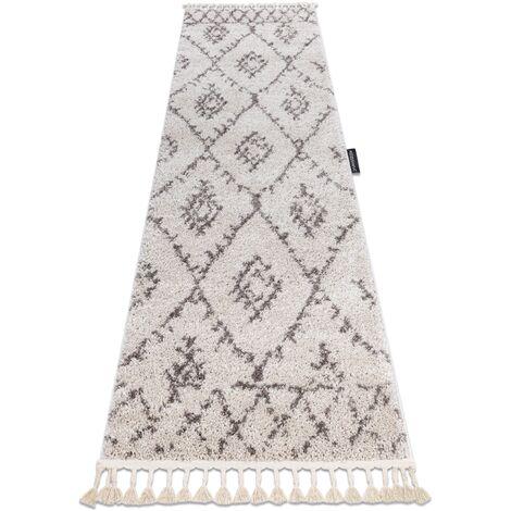 Carpet, Runner BERBER FEZ cream - for the kitchen, corridor & hallway - 70x250 cm