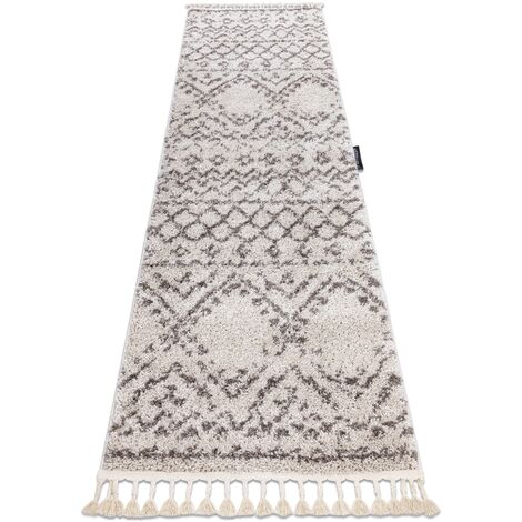 Carpet, Runner BERBER RABAT cream - for the kitchen, corridor & hallway - 60x300 cm
